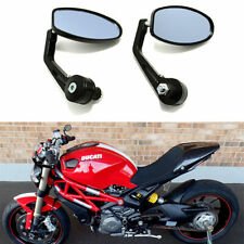 Motorcycle Handle Bar End Side Mirrors for Ducati Monster 696 750 1200 S4R HG