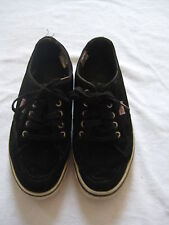Esprit black suede leather men's black lace-up trainers, size 41