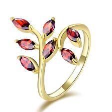 Size 8 Ladies Bridal Garnet 10KT Gold Filled Breathtaking Engagement Rings