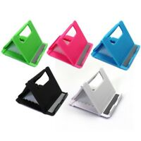 Universal Folding Plastic Holder Desktop Stand for Phone and Tablet