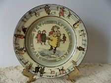 1907 Antique Royal Doulton Whimsical Pride Pryde Goeth Before A Fall Plate (3)