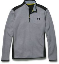 Under Armour Men's ColdGear Infrared Fleece 1/4 Zip Top, Steel/Black, Small