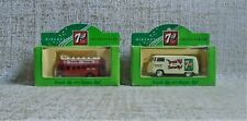 7 UP Collectibles Diecast LOTX2 Transporter Van Open Top Bus NIB Made in England