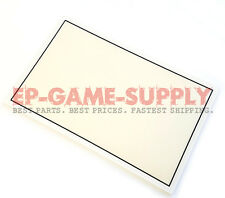 LCD Screen Top Plastic Cover Frame Bezel + Adhesive for Nintendo 3DS XL White