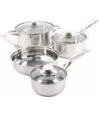 Sunbeam Ansonville 7-Piece Cookware Set, Silver New