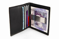 NEW LUXURY QUALITY SOFT LEATHER CREDIT CARD HOLDER WALLET MONEY CLIP MENS GIFT