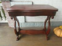 Antique Empire Victorian Table Game Table Mahogany VGC