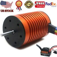 9T 4370KV Brushless Motor+60A ESC Speed Controller Combo ME720 for 1/10 RC Car A