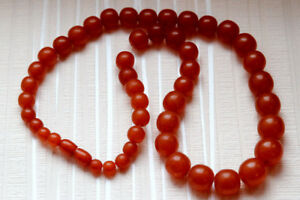 Baltic Amber beads 54.7 gr natural butterscotch Necklace 天然琥珀石多色生