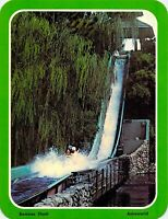 1978 Original ASTROWORLD - Bamboo Shoot WATER RIDE 5.25x6.75 postcard