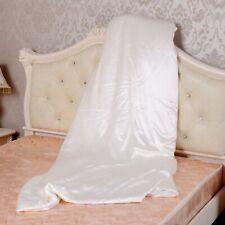 100% Mulberry Silk Filled Comforter Quilt Duvet Doona w/ 19mm Silk Cover Ivory