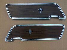 1969 1970 Mustang Deluxe Door Inserts  (walnut)