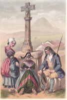 Auvergne Puy de Dôme Costume Montagnards 1860
