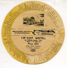 TIP-TOP MOTEL NIAGARA FALLS CANADA - DOUBLE POSTCARD CIRCA 1950's ref: 9810C
