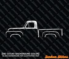 2X Car silhouette stickers - for Ford F100 (1953-1955) classic pickup truck