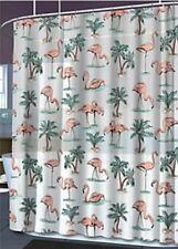 New Tropical Flamingo Vinyl Shower Curtain Eco-Friendly PEVA - PVC Chlorine Free