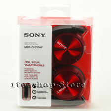 Sony ZX Series MDR-ZX310AP Foldable Headband Stereo Headset w/Mic (Red