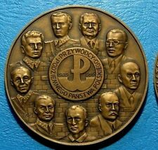 POLAND 1992 - Leaders of Polish Underground State, WWII Bronze Medal 70 mm /138