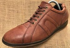 Men's Shoe RUFF HEWN Sneakers Brown Leather Lace Up Oxfords Gammo Size 9.5 M