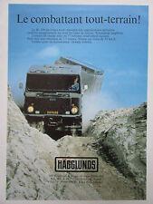 10/1984 PUB HAGGLUNDS & SONER SWEDEN BV 206 CHENILLE AMPHIBIE ORIGINAL FRENCH AD