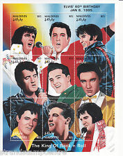 Elvis Presley 60th Birthday UMM Stamp Sheet (Maldives)