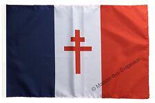 Drapeau France libre 1940-43 - Croix de Lorraine  30x45cm Qualité Top