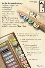 Beautiful Catholic Bible Topic Tabs - HARD TO FIND + FREE Holy Cards + FREE SHIP