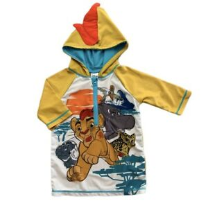 Disney Lion Guard Kion Sun Rash Guard Toddler Boys Size 5/6 Swim Cover Up Yellow