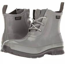 Bogs Amanda Chukka Grey Gray Womens 10 Waterproof Rain Water Lace Up Boots NIB