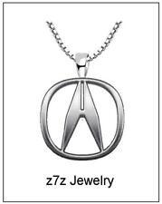 ACURA Emblem Necklace - LARGE logo pendant luxury auto car jewelry z7qq