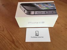 NEW Apple iPhone 4s 8GB A1387 BLACK (FACTORY UNLOCKED) BOXED (iOS 7) UK MODEL