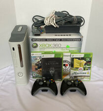 Xbox 360 Console 20Gb White Bundle 2 Controllers 4 Games Tested