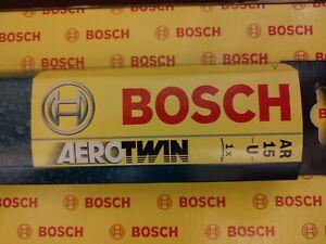 "Bosch AeroTwin Wiper Blade 15"" Inch Flat Universal Upgrade AR15U"