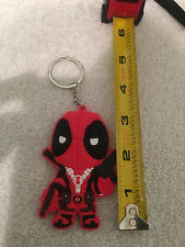 Marvel Comics Deadpool Figure Soft Rubber Keychain Keyring Double Side