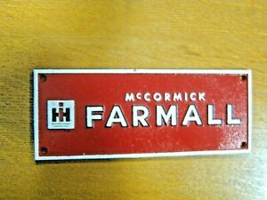 """McCormick Farmall"" IH International Harvester CAST IRON SIGN PLAQUE 10"" x 4"" c"