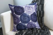 Impasto Cirlces Decorative Pillow