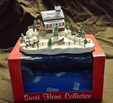 Sweet Home Collection Snowy Christmas Village Farm House