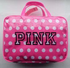 Victoria's Secret Makeup Case Travel Hanging Organizer Pink Dots Bag/ NWT