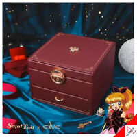 Clue X Saint Tail Jewelry Necklace Earrings Box Package Burgundy-100% Authentic