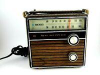 Vintage Ross Am/Fm Radio Solid State Model 1450 Tested Works Wood Grain Vinyl