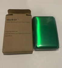 Shell-D RFID Blocking Credit Card Holder Green