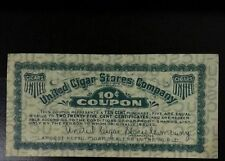 Rare United Cigar Stores Company 10c Coupon Largest Retail Dealer in the World #