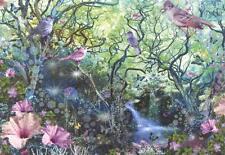 Scarce Leanin' Tree glitter card - Cool forest & waterfall, Alixandra Mullins