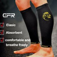 Copper Infused Calf Leg Compression Sleeve Socks Joint Shin Splint Support Brace