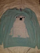 Womens Medium Divided Polar Bear Sweater