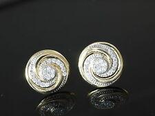 333 Gold Ohrstecker grosse Spiralen 11,0 mm mit 1 Paar mit Zirkonia Steinen