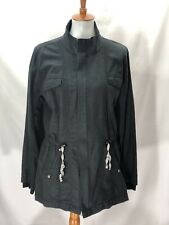 Cabi Womens Utility Jacket Charcoal Drawstring Waist Unlined Size Medium #209