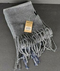 Britt's Knits Men's Cambridge Scarf Gray Striped Tasseled Lightweight New
