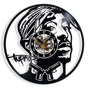 Tupac Vinyl Wall Clock Record Gift Decor Sign Feast Day Art Woman