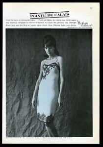 1962 Henson Kickernick lingerie black lace blue slip woman photo print ad